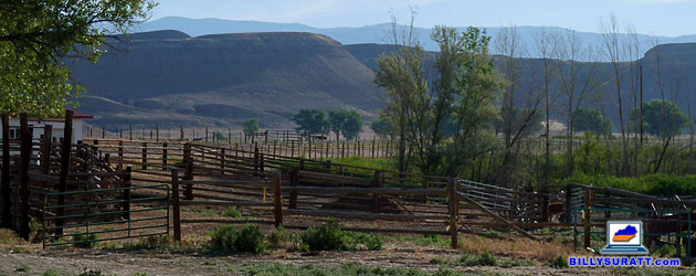 Wilford Brimley's 317-acre Wyoming Horse Ranch near Greybull, Wyo., can be yours for $1.25 million. Brimley, 79, says he's decided it's time to move closer to town. (Real estate listing photo courtesy of Hall and Hall)