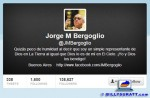 Screen capture showing the Twitter head of @JMBergoglio.